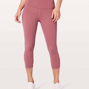Lululemon High-Rise Yoga Pants in Blush • Size 8